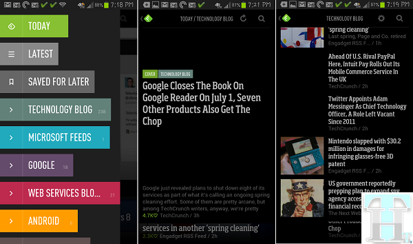 Feedly Android App Screenshots