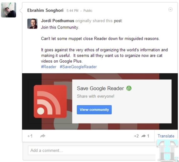 Save Google Reader Community